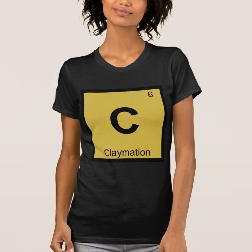 C - Claymation Animation Chemistry Periodic Table Shirts