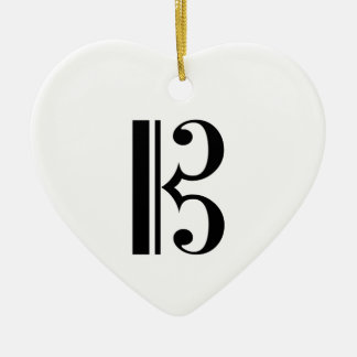 C-Clef Ceramic Ornament