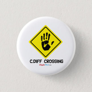 C. Diff Crossing Sign 1 Inch Round Button