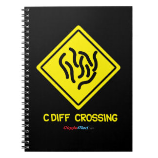 C. Diff Crossing Sign Notebook