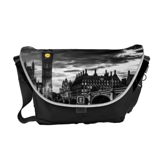 C.E. London at Night Messenger Bag
