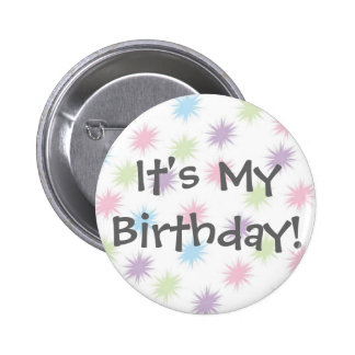 C est mon anniversaire badge avec épingle