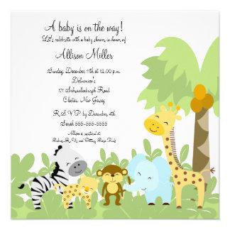 C est une invitation de baby shower d Animails de