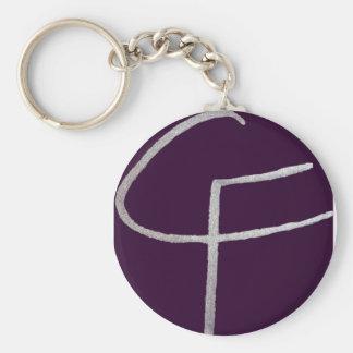 C & F initial Keychain