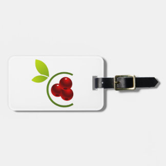 C for cherry luggage tag