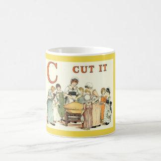 C for Cut it vintage classic mug