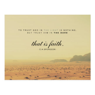 C.H.Spurgeon - That is Faith Postcard