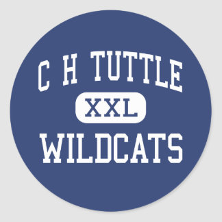 C H Tuttle Wildcats Middle Maiden Round Sticker