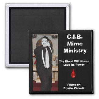 C.I.B. Mime Ministry Magnet