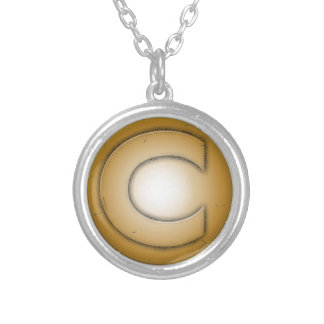 C initial letter custom necklace