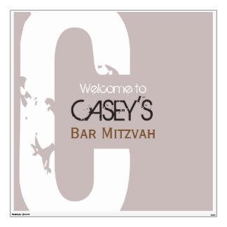 C Initial Monogram Bar Mitzvah Floor decal