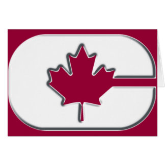 """""""C"""" is for Canada Greeting Card"""