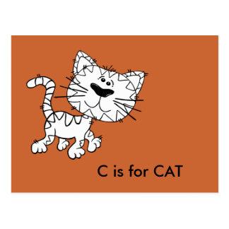 """C"" is for Cat Alphabet Flashcard Postcard"