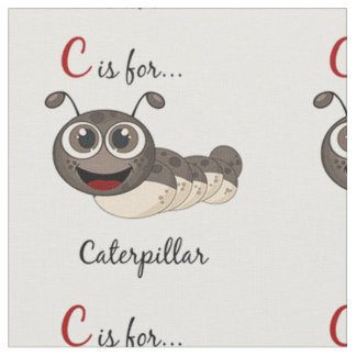 C Is For Caterpillar Fabric