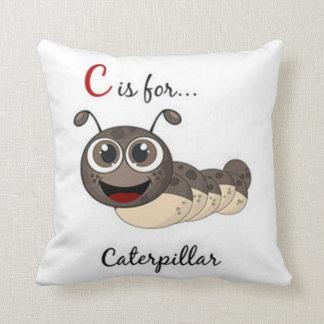 C Is For Caterpillar Throw Pillow