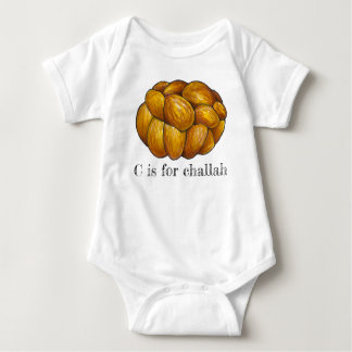 C is for Challah Bread Jewish Holiday Hanukkah Baby Bodysuit