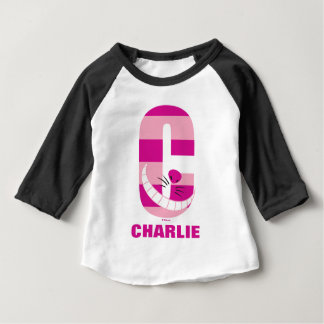 C is for Cheshire Cat | Add Your Name Baby T-Shirt