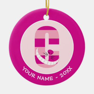 C is for Cheshire Cat | Add Your Name Ceramic Ornament