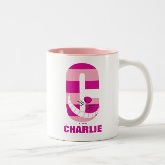 C is for Cheshire Cat | Add Your Name Two-Tone Coffee Mug