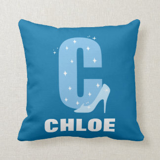 C is for Cinderella | Add Your Name Throw Pillow