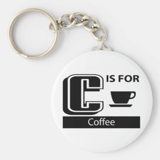 C Is For Coffee Keychains