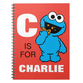 C is for Cookie Monster | Add Your Name Note Book