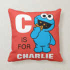 C is for Cookie Monster | Add Your Name Throw Pillow