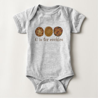 C is for Cookies Chocolate Chip Peanut Butter Food Baby Bodysuit