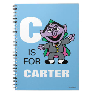C is for Count von Count | Add Your Name Note Books