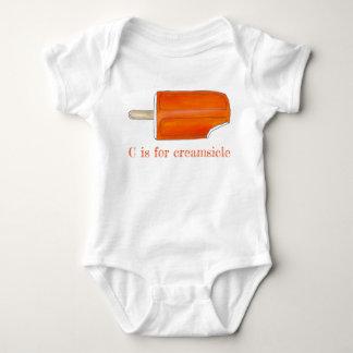 C is for Creamsicle Orange Ice Cream Popsicle Baby Bodysuit