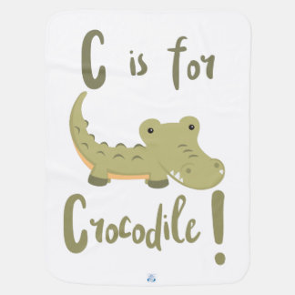 C is for Crocodile Receiving Blanket