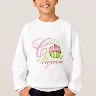 C Is For Cupcake Kids Sweatshirt