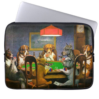 C.M. Coolidge Dogs Playing Poker Computer Sleeves