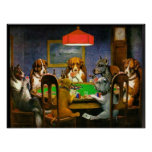 C.M. Coolidge Dogs Playing Poker Print