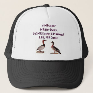C M Ducks? Funny Southern Accent Trucker Hat