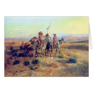 """C M Russell """"The Scout"""" Greeting Card"""