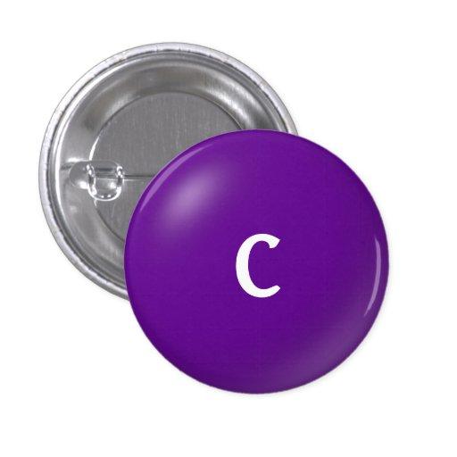 C Monogram Button