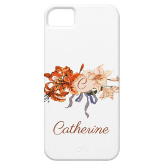 """""""C"""" Monogram with Victorian Bouquet Case For The iPhone 5"""