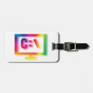 C:\ Nerds and Geeks Rejoice ! Luggage Tag