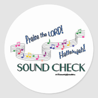 C Notes Sound Check Classic Round Sticker