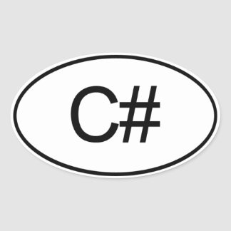 C# OVAL STICKER
