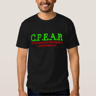C.P.E.A.R, Ct Paranormal Encounters And Research Tee Shirts