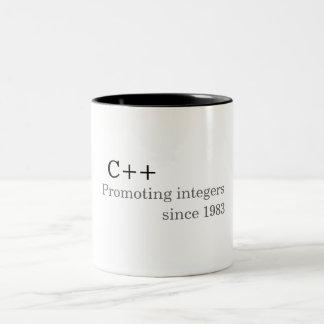 C++: Promoting integers since 1983 (mug) Two-Tone Coffee Mug