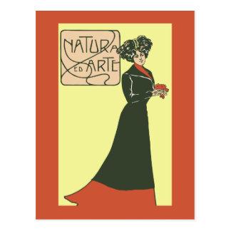 ca 1900 Vintage Italian Ladies' Fashion 2 Postcard