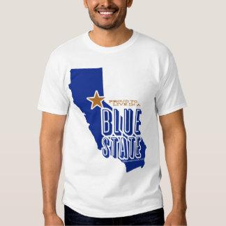 CA Blue State (stencil2 crisp) T-shirt