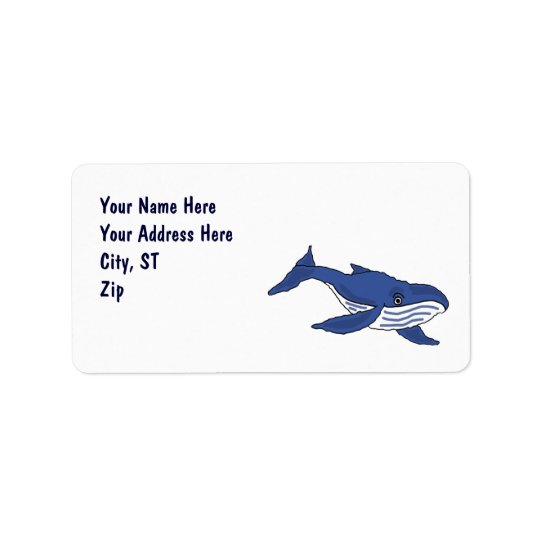 CA- Blue Whale Address Labels