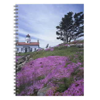 CA, Crescent City, Battery Point lighthouse with Notebooks