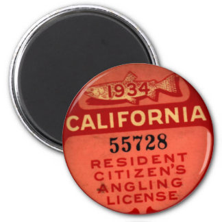 CA Fishing Lic 1934 Magnet