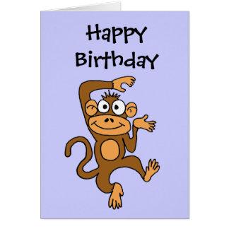 CA- Happy Dancing Monkey Greeting Card