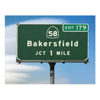 CA Highway 58 Bakersfield Junction Postcard